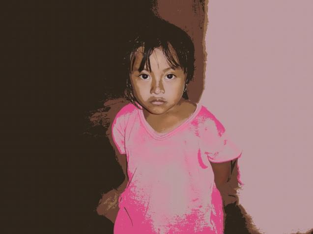 portrait in pink  SL2 8x6